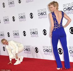 Ellen and Portia at the Peoples Choice Awards