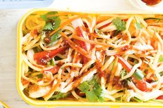 Chicken Hokkien noodle salad, so easy I always have these ingredients at home, just add some left over chicken