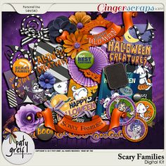 Scary Families Full Kit by Paty Greif