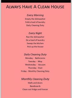 Good Tips On How To Keep Your House Clean...