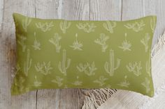 Texas Flora Pillow by R studio | Minted