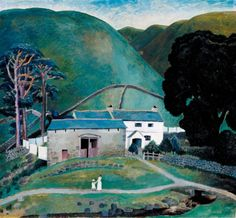 Artwork page for Farm at Watendlath, Dora Carrington 1921 on display at Tate Britain. Carrington was part of a brilliant generation of graduates from the Slade School of Art, including Mark Gertler and David Bomberg. She was associated with the Bloomsbury Group and shared their unorthodox social attitudes. This painting is of a farm near Keswick in the Lake District where the newly-wed Carrington spent a summer holiday with her husband and their friends, including Gerald Brenan, with whom…