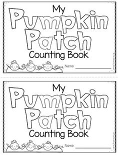 Free pumpkin patch counting book