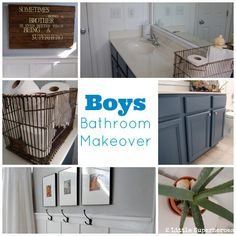 Builder grade bathroom gets a makeover with just paint and a little carpentry. Boys Bathroom Makeover for $200.