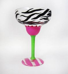 wild thing margarita glass – zebra print discount code : DD20 for 20 % off your entire order