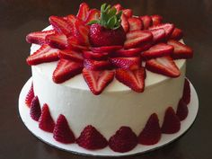 When strawberries are in season, it's the perfect time for this vanilla cake filled with fresh strawberry filling and piled high with fresh juicy berries! Description from littleapronbaking.com. I searched for this on bing.com/images