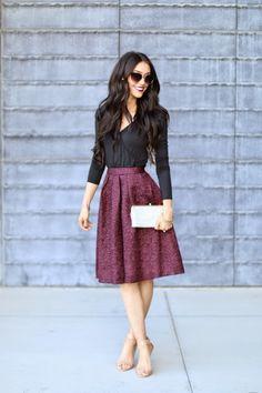 Brittany Maddux: ASTR Texture Pleat Skirt