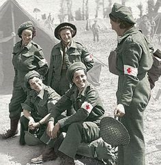 Second World War nurses  Females on the front line: Nurses dressed for action during the Second World War