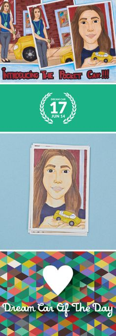 Dream Car of the Day #17. 'Introducing the Pocket Car!!!' by Teah Arlene Laupapa, Age 12, Hawaii #DreamCarOfTheDay