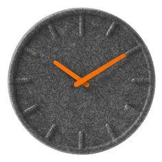 Wandklok LEFF Amsterdam Felt Orange Ø 35 Cm. Felt Wall Clock ...