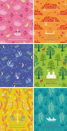 Clothbound Classics, Penguin Books - covers illustrated by Daniela Jaglenka Terrazzini Penguin Clothbound Classics, Penguin Classics, Secret Garden Book, Buch Design, Beautiful Book Covers, Cool Books, Penguin Books, Classic Books, Book Cover Design
