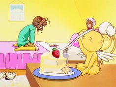 Cardcaptor Sakura Episode 35 | CLAMP | Madhouse / Kinomoto Sakura and Keroberos (Kero-chan)