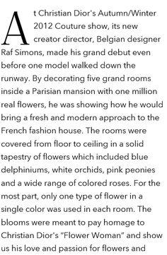 Dior. Fall 2012. Flowers 1.000.000