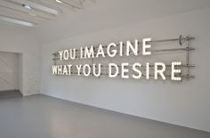 You imagine what you desire