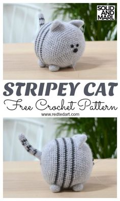 How to Crochet a Toy Cat. Adorable Solid and Marl Crochet Pattern Free Free Cat Crochet Pattern. How to Crochet a Toy Cat. Adorable Solid and Marl Crochet Pattern FreeFree Cat Crochet Pattern Stripey by Redtedart.With of free amigurumi and crochet to Chat Crochet, Crochet Mignon, Crochet Cat Toys, Crochet Cat Pattern, Crochet Gratis, Crochet Patterns Amigurumi, Crochet Dolls, Crochet Kits, Cat Amigurumi