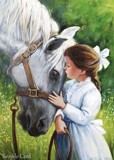 Art Drawings For Kids, Horse Drawings, Cute Drawings, Canvas Painting Tutorials, Diy Canvas Art, People Art, Horse Art, Beautiful Paintings, Cute Art