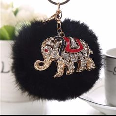 Elephant PomPom PomPom Cell Phone,Car Handbag Key Chain Accessories Key & Card Holders