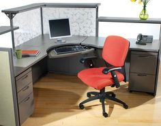 Corner reception desk by Interior Concepts featuring decorative acrylic inserts.
