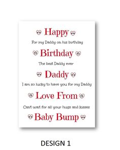 Personalised Birthday Card From The Bump - Personalized Birthday Card From The Bump - Daddy to be Card - Mummy to be Card by personalisedcards4u on Etsy
