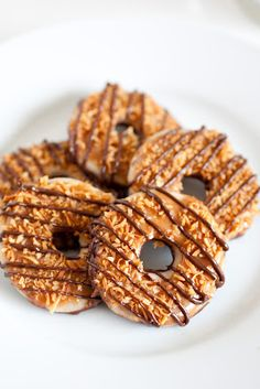 Copycat Samoa Girl Scout Cookies - Seriously did not need to know this....will power now on overdrive