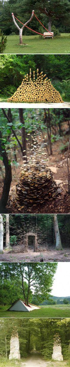 德国艺术家Cornelia Konrads最喜欢在树林里创作,主题永远是:静止的时间和消失的重力。 - 堆糖 发现生活_收集美好_分享图片