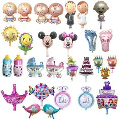 Balloons (pre-order in advance) party, baby shower, marriage, gifts, birthday, its a girl, its a boy, cake, cupcake, mickey minnie, sun flower bottle candles feet, baby toes, buggy, stroller, princess crown ring, birds, blue pink