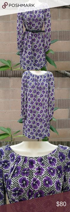 Milly New York purple black polka dot dress Milly New York purple black polka dot dress. Has been worn a handful of times. Few areas that snagged but not noticeable due to print of the dress. Still in great condition!! Milly Dresses