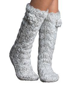 Look at this #zulilyfind! Mercury Marshmallow Twist Slipper Socks #zulilyfinds