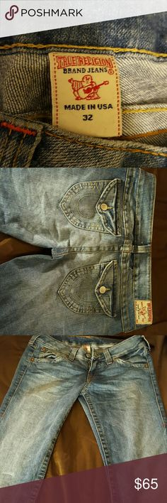 True Religion Jean's Not sure if. Out currently or straight size 32 True Religion Jeans Boot Cut