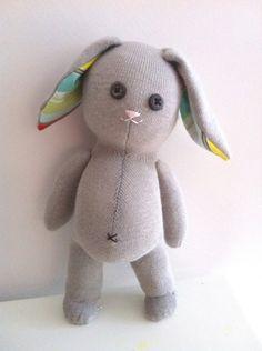 Cute sock bunny- i wanna make one!!