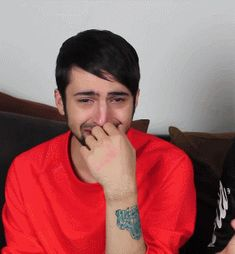 Mitch Grassi being my everything and more. Pentatonix superfruit laughing gif