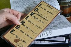 """Family mission statement on scripture bookmarks with pinky print of each person (for """"pinky promise)"""
