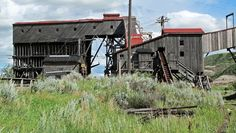Last free-standing Tipple at The Atlas Coal Mine National Historical Site near Drumheller, Alberta, Canada