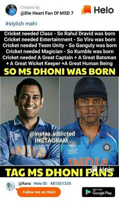 India Cricket Team, World Cricket, Cricket Sport, Ms Dhoni Profile, Ms Doni, Dhoni Captaincy, Cricket Poster, Dhoni Quotes, Be Like Bro