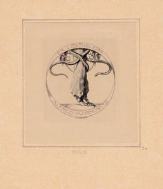 Ex libris by Alfred Cossmann