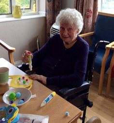 Decorating our forget me not cafe - Riversway Care Home Bristol