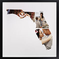State Photo Gifts, White Custom Photo Art From Minted By Independent Artist Heather Buchma Called Florida Love Location With Printing On In White GCP. Florida State Map, Origami, Florida Pictures, Unique Maps, Map Globe, Photo Maps, Photo Displays, Print Pictures, Custom Photo