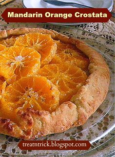 Mandarin Orange Crostata @ treatntrick.blogspot.com Homemade free form ...