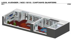 USS Avenger/NCC-1810/Captain's Quarters by bobye2.deviantart.com on @DeviantArt