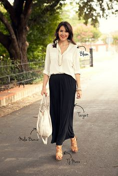 Can't believe I never thought of this... a maxi skirt would be cute for work too, something different!