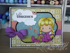 Hello Gorgeous Card by PrairiePaperandInk on Etsy