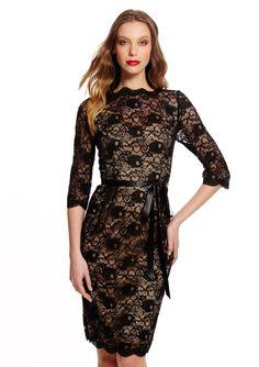ALEX EVENINGS Three-Quarter Sleeve Lace Dress $49.99