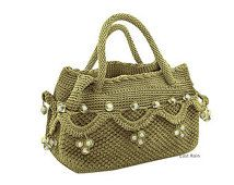 crochet bag handmade crochet handbag party bag personalized bag personalized tote summer fashion green tote bag evening bag advent  bagbab
