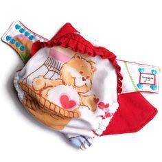 Tenderheart Bear Care Bears Ruffle Butt Cloth Diaper by Honeybuns