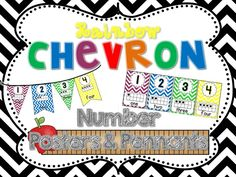 Chevron Number Posters & Pennants
