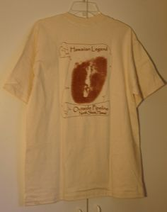 Size Large 100% Pre Shrunk Cotton Kealoha Kaio Sr. Hawaiian Surf Legend Outside Pipeline North Shore Hawaii Natural Un Bleached Cotton Tee! by DMVintageShowroom on Etsy