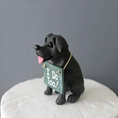 Hey, I found this really awesome Etsy listing at https://www.etsy.com/listing/165214063/black-lab-wedding-cake-topper-made-to