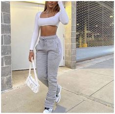Boujee Outfits, Cute Lazy Outfits, Baddie Outfits Casual, Dope Outfits, Teen Fashion Outfits, Retro Outfits, Chill Outfits, Stylish Outfits, Baddies Outfits