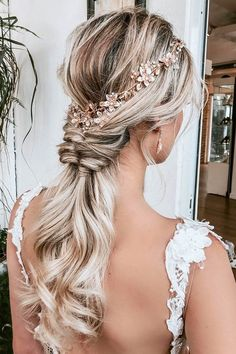 39 Pinterest Wedding Hairstyles Ideas You Should See ❤ pinterest wedding hairstyles swept long ponytail on blonde hair alexarizmendyhair #weddingforward #wedding #bride #bohobride #pinterestweddinghairstyles
