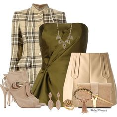 """Vintage Hermes Tweed Jacket With Carven Winter Shorts"" by bellamimi1207 on Polyvore"